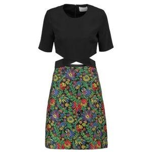 3.1 Phillip Lim Cutout Crepe Floral Jacquard Dress